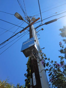 Smart Meters are on the telephone poles in the form of a wireless
