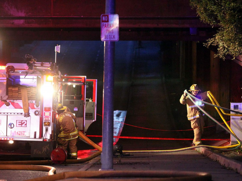 "What was initially reported simply as an ""electrical fire"" in Santa Rosa's downtown last Thursday turned out to be a huge bank of smart meters spontaneously combusting"
