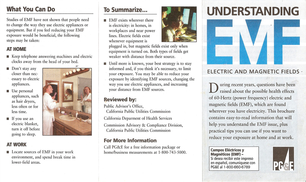 """PG&E Issues EMF Warning: """"Increase your Distance"""" 