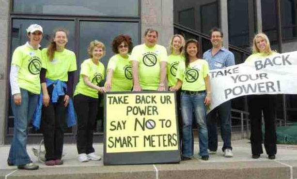 Naperville Residents Rally Against Smart Meters at a Rally organized by NSMA