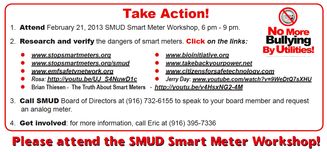Info from SSM! Sacramento's flyer (note-links are not clickable)