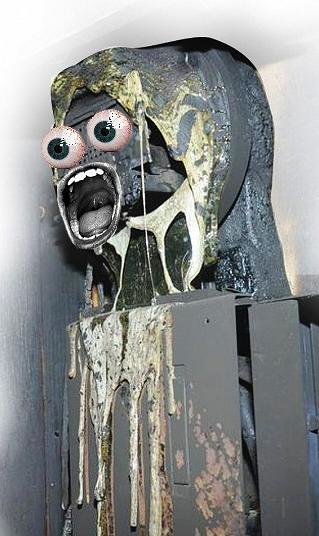 melted smart meter monster