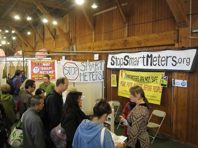 Volunteers staff a SSM! table at the Green Festival in San Francisco