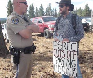 PSREC tried to get us removed from the highway in front of their HQ by calling the CHP.