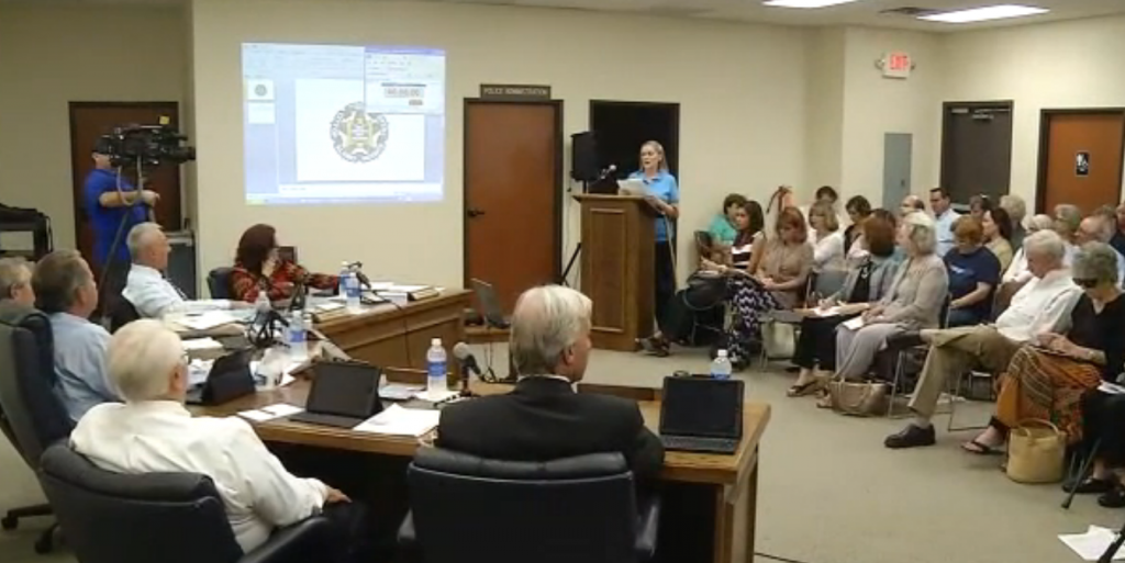 Dozens of residents speak to Alamo Heights City Council on Monday evening