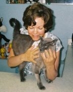 Susan Straus and her cat Oliver