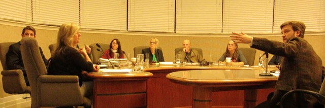 SSM! Director Josh Hart presenting to the Nevada City, CA city council in February.