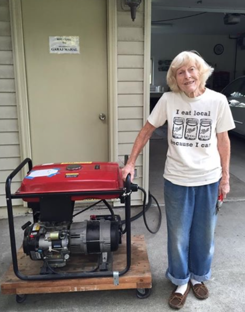 85 year old Glenna Long was disconnected by DTE, and has sought alternate energy supplies