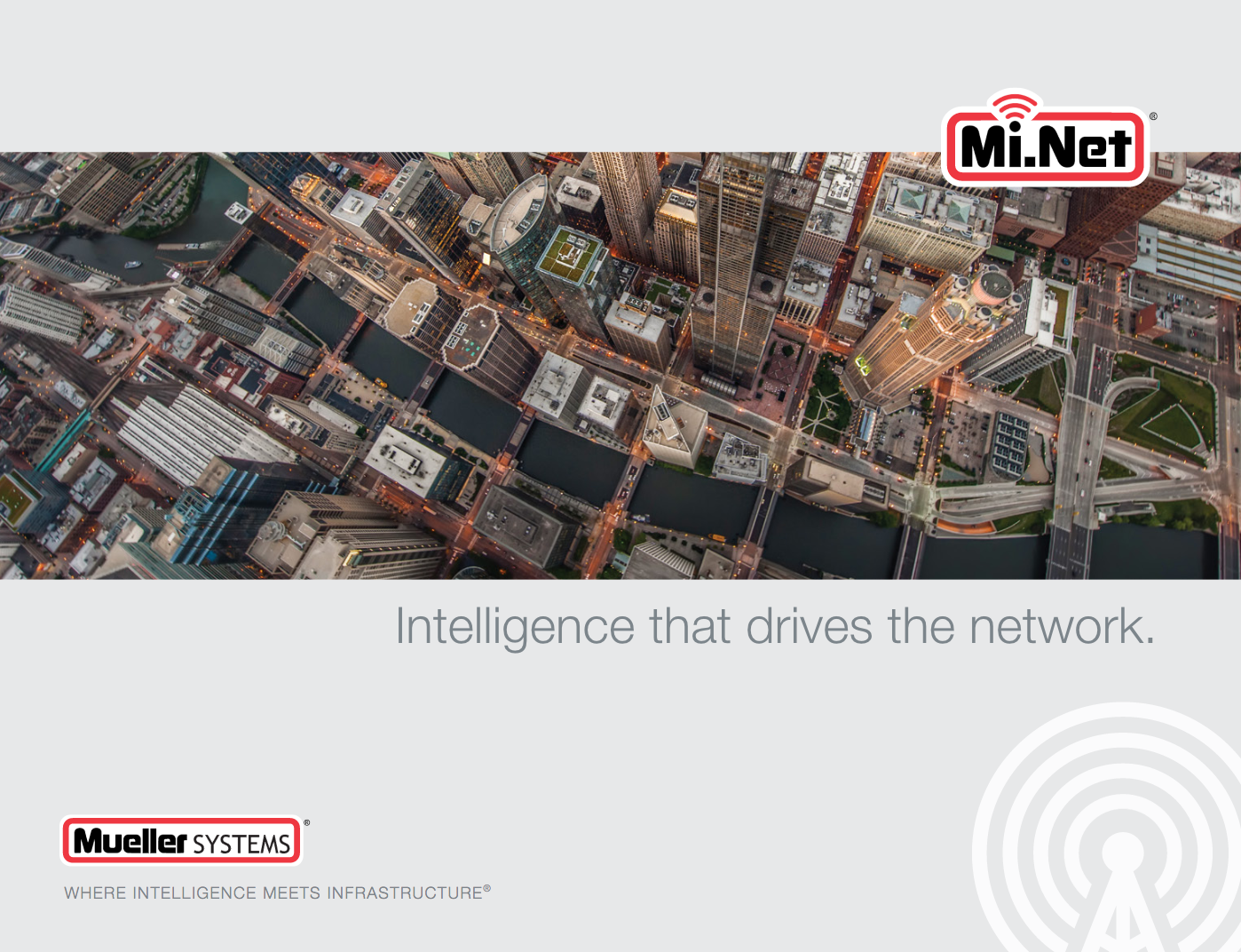 A promotional poster for Mueller Mi.net smart meter mesh network system- the same system in place in James Bates' Bentonville neighborhood